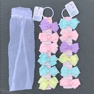 NWT 12 Claire's Pastel Bow Hair Clips